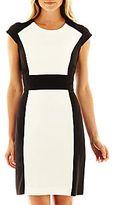 Liz Claiborne Side-Colorblock Sheath Dress