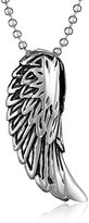 Cold Steel Men's Stainless Steel Angel Wing Pendant Necklace, 22""