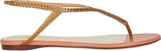 Francesco Russo Braided T-Strap Flat Sandals