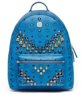 MCM Stark Men's Stud Medium Backpack, Munich Blue