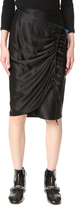 DKNY Wrap Skirt with Contrast Trim