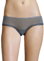 Calvin Klein Lace-Trimmed Stretch Hipster Panties