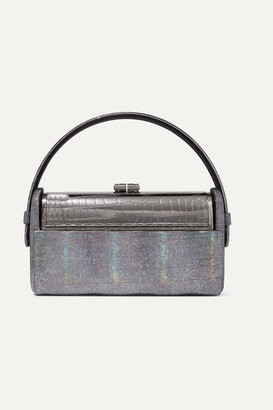 BIENEN-DAVIS Regine Iridescent Leather And Silver-dipped Tote - Gunmetal