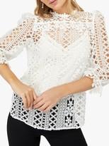 Monsoon Darcy Daisy Lace Shirt, Ivory