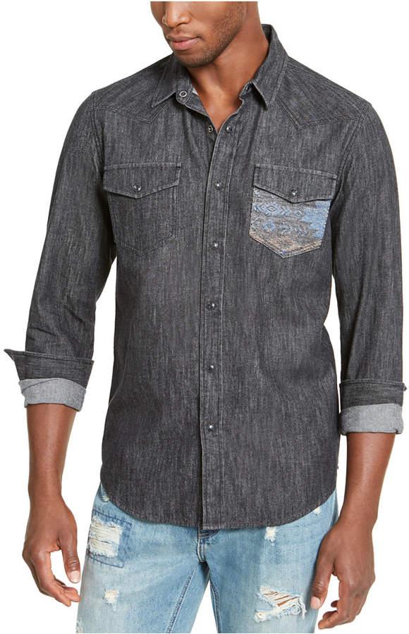 American Rag Men Dark Chambray Shirt