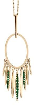Ileana Makri Grass 18K Yellow Gold & Emerald Pendant Necklace