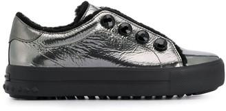 Kennel + Schmenger Metallic Lace-Up Sneakers