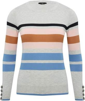 M&Co Petite mixed stripe jumper