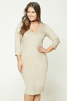 Forever 21 FOREVER 21+ Plus Size Faux Suede Midi Dress