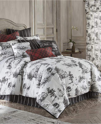 Colcha Linens Toile Back in Black Duvet Cover Set Linen-King/California King Bedding