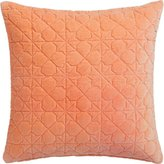 "CB2 August Quilted Peach 16"" Pillow"