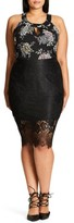 City Chic Plus Size Women's Romantic Lace Pencil Skirt