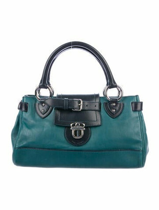 Marc Jacobs Guineviere Leather Tote Green