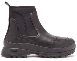 Stella McCartney Neoprene And Faux Leather Ankle Boots - Mens - Black