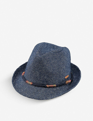 Barts Al Kids Jinotega woven cotton-blend trilby hat