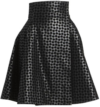 Alaia Dalmation Leather Wrap Skirt