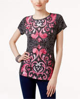 INC International Concepts Embellished Burnout T-Shirt, Only at Macy's