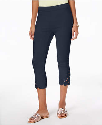 INC International Concepts Inc Petite Lace-Hem Capri Pants