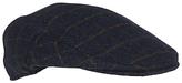 John Lewis Check Flat Cap, Navy