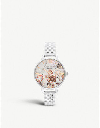 Olivia Burton OB16CS31 Marble Florals stainless steel and rose gold-toned watch