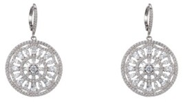 Nina Medallion Lever Back Earrings
