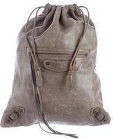 Balenciaga Classic Motocross Cosmetic Drawstring Bag