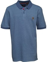 Luke 1977 Little Luke Boys Tonos Contrast Collar Polo Lux Petrol/Powder Sky
