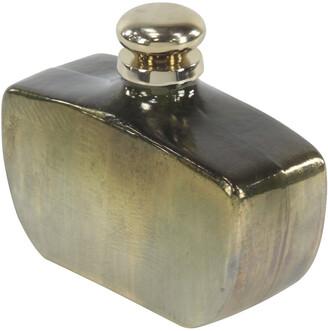 Uma Enterprises Uma Bud-Shaped Gold Glass And Aluminum Bottle