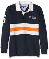 Tommy Hilfiger Boys' Pcd Stripe Rugby L/S Sweater,16