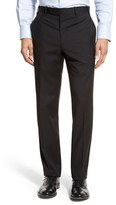 JB Britches Men's 'Torino' Flat Front Solid Wool Trousers