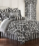 Rose Tree Symphony Damask & Houndstooth Cotton Sateen Reversible Comforter Set