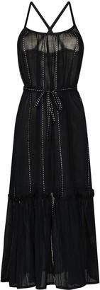 Lemlem Tikuri tied waist midi dress