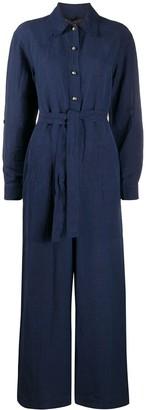 Etro Belted Wide-Leg Boiler Suit