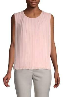 Calvin Klein Pleated Sleeveless Top