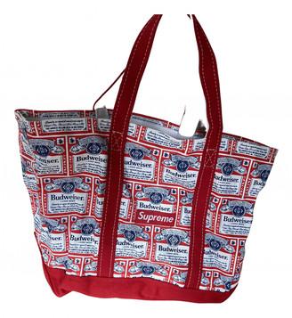 Supreme Red Cotton Handbags