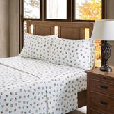True North by Sleep Philosophy Owl Flannel Sheet Set in Sand