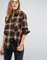 Pull&Bear Long Sleeve Check Shirt