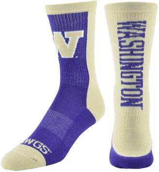 Men's Mojo Washington Huskies Loud & Proud Crew Socks