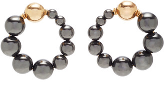 Beck Jewels Cami Pearl And Gold Earrings
