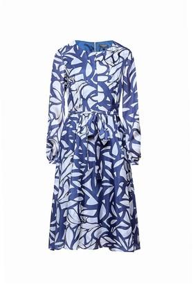 Freya Printed Silk Midi Dress