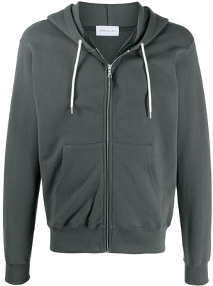 John Elliott zip-up cotton hoodie