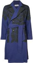 Issey Miyake geometric print trench coat