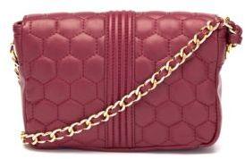 Badgley Mischka Quilt-Stitched Leather Crossbody Bag