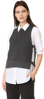 DKNY Pure Sleeveless Sweater with Side Tabs