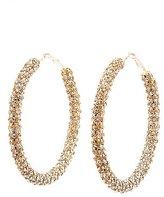 Charlotte Russe Rhinestone Hoop Earrings
