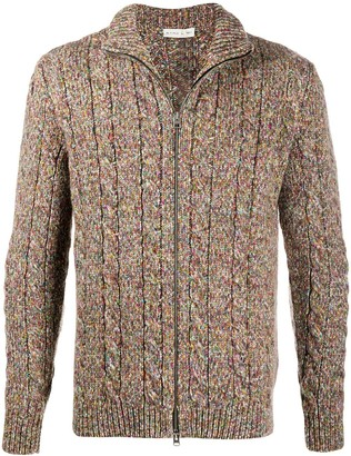 Etro Boucle Knit Zipped Cardigan