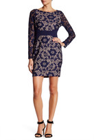 Jessica Simpson Lace Knit Long Sleeve Dress