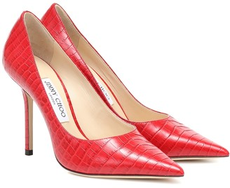 Jimmy Choo Love 100 croc-effect leather pumps