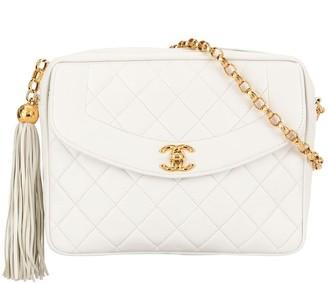 Chanel Pre Owned Quilted Fringe CC Chain Shoulder Bag