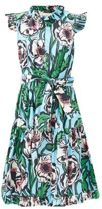 La DoubleJ Short & Sassy Floral-print Cotton Dress - Multi